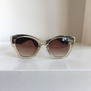 Other - Lucite clear and blue sunglasses 400 UV protection